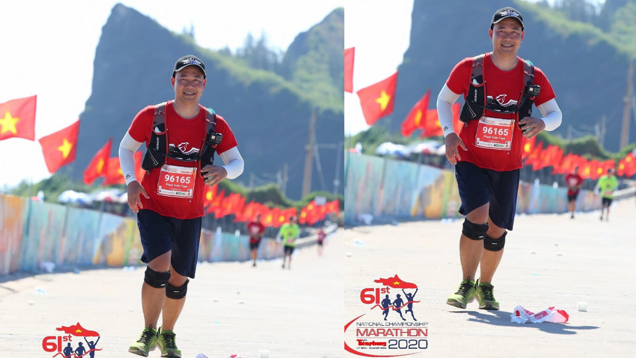Phạm Xuân Trịnh Marathon 2020 lý sơn